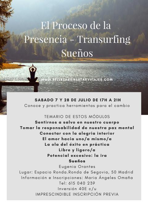 """Taller """"CONSCIENCIA Y LIBERACIÓN"""" basado en Transurfing, El Proceso de la Presencia,  e Interpretación de Sueños."""