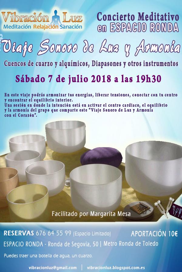 """Concierto Meditativo """"Viaje Sonoro de Luz y Armonía"""""""