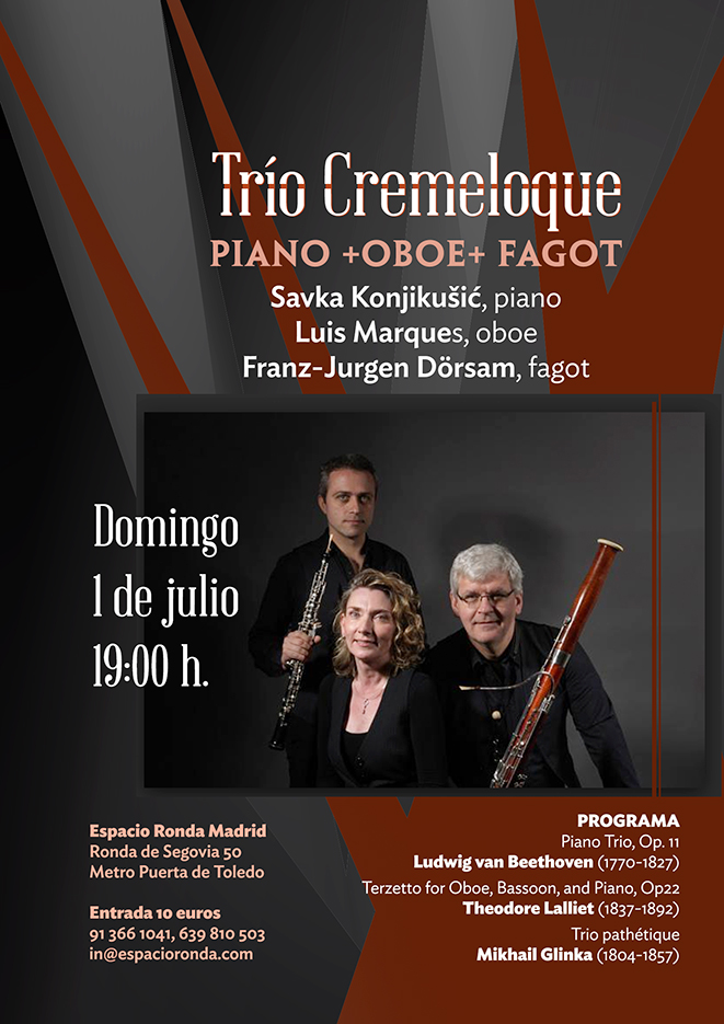 Trío Cremeloque: Piano + Oboe + Fagot
