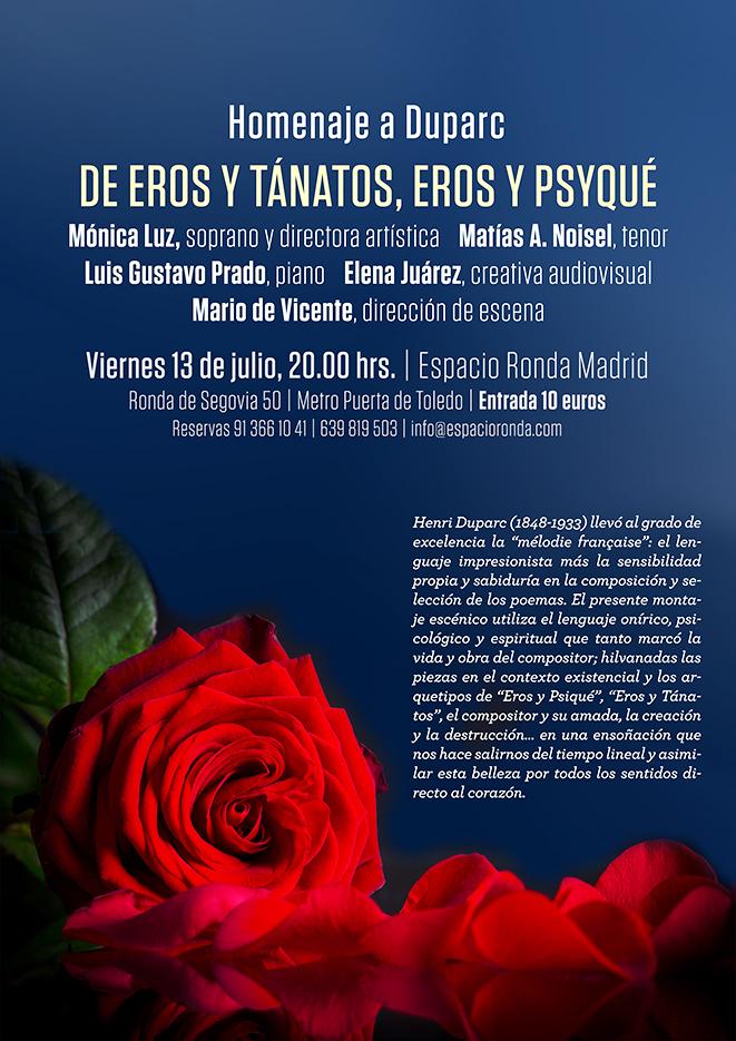 """Homenaje a Duparc: """"De Eros y Tánatos, Eros y Psyqué"""""""
