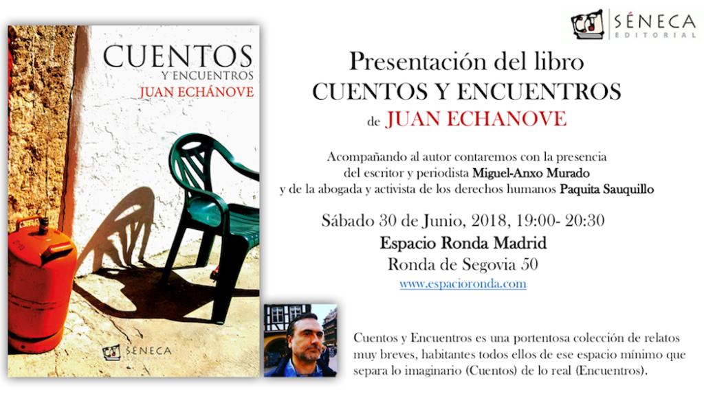 """Presentación del libro """"Cuentos y encuentros"""" de Juan Echánove"""