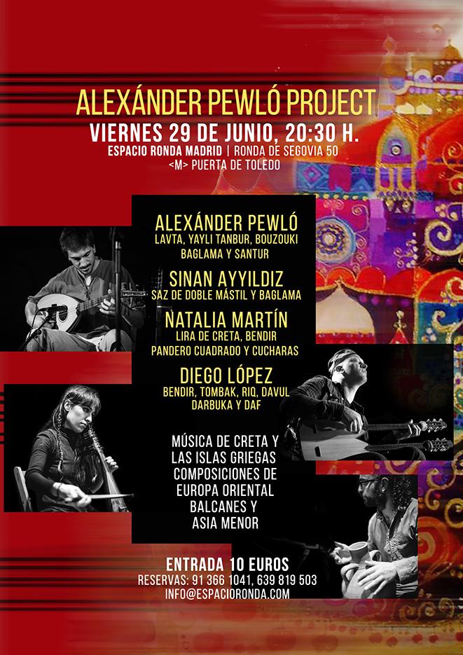 """""""Alexánder Pewló Project""""  Músicas de Creta y las islas griegas"""