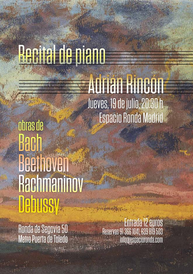 Recital de Piano con Adrián Rincón