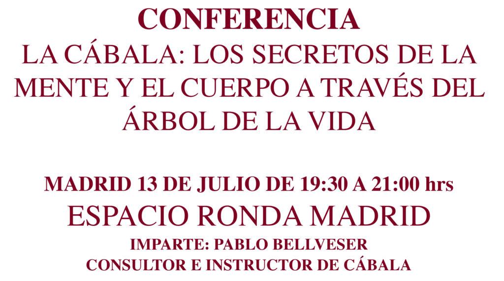 """Conferencia """"La Cábala - Los secretos de la mente y el cuerpo a través del árbol de la vida"""""""