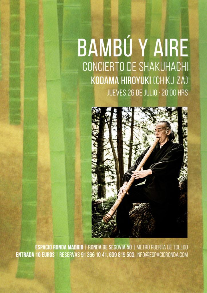 """""""Bambú y aire"""" Concierto de Shakuhachi"""