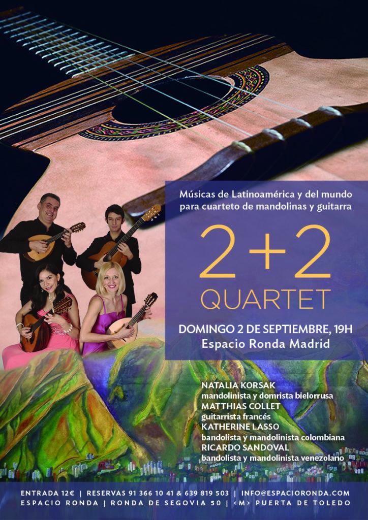 """Músicas de Latinoamérica y del mundo para cuarteto de mandolinas y guitarra """"2+2 Quartet"""""""