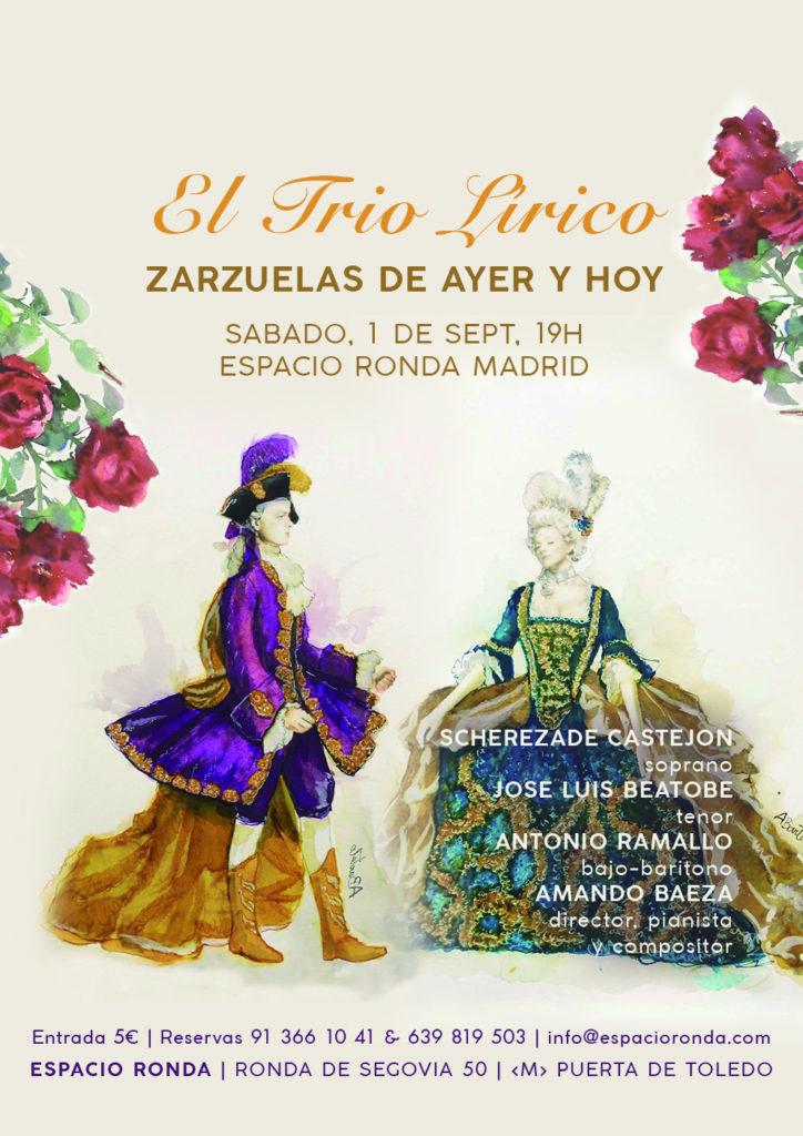 """El trio lírico presenta """"Zarzuelas de ayer y hoy"""""""