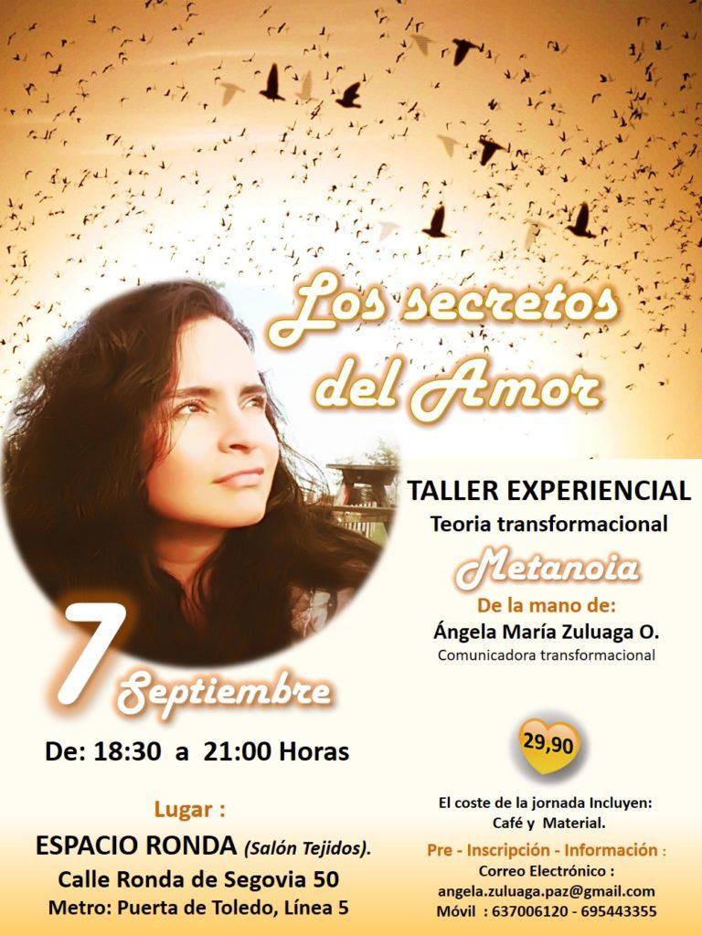 """Taller Experiencial """"Los secretos del Amor"""""""