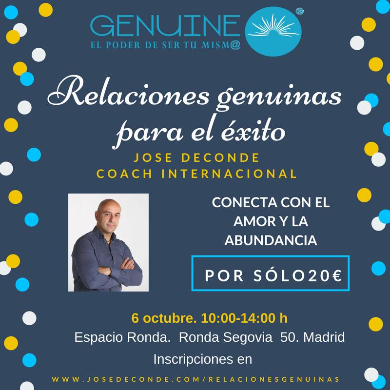 """Seminario """"Relaciones genuinas para el éxito"""""""