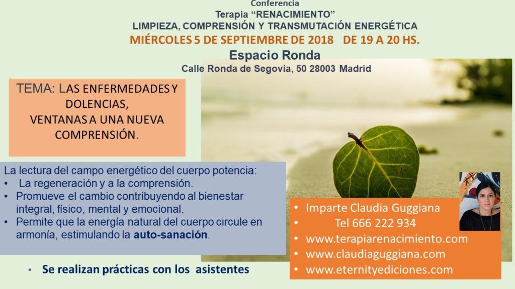 """Conferencia Terapia """"Renacimiento"""""""