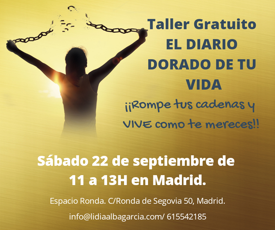 """Taller gratuito """"El Diario Dorado de tu Vida"""""""