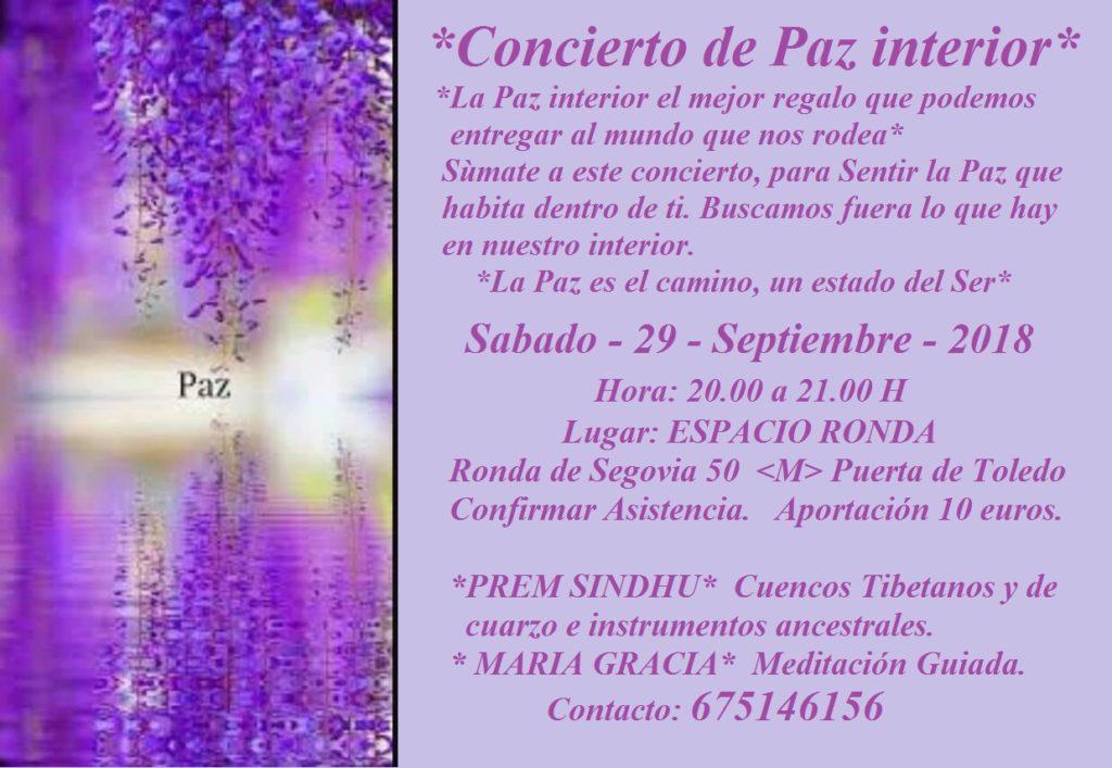 Concierto de Paz interior