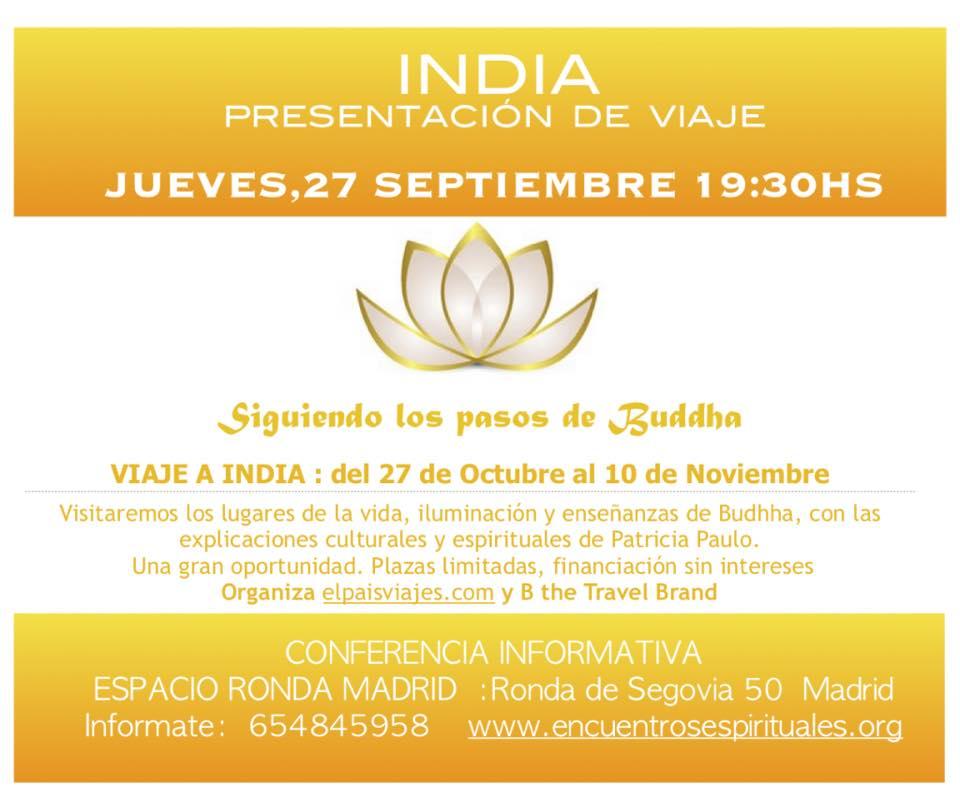 """""""India"""" Presentación de viaje - Conferencia informativa"""