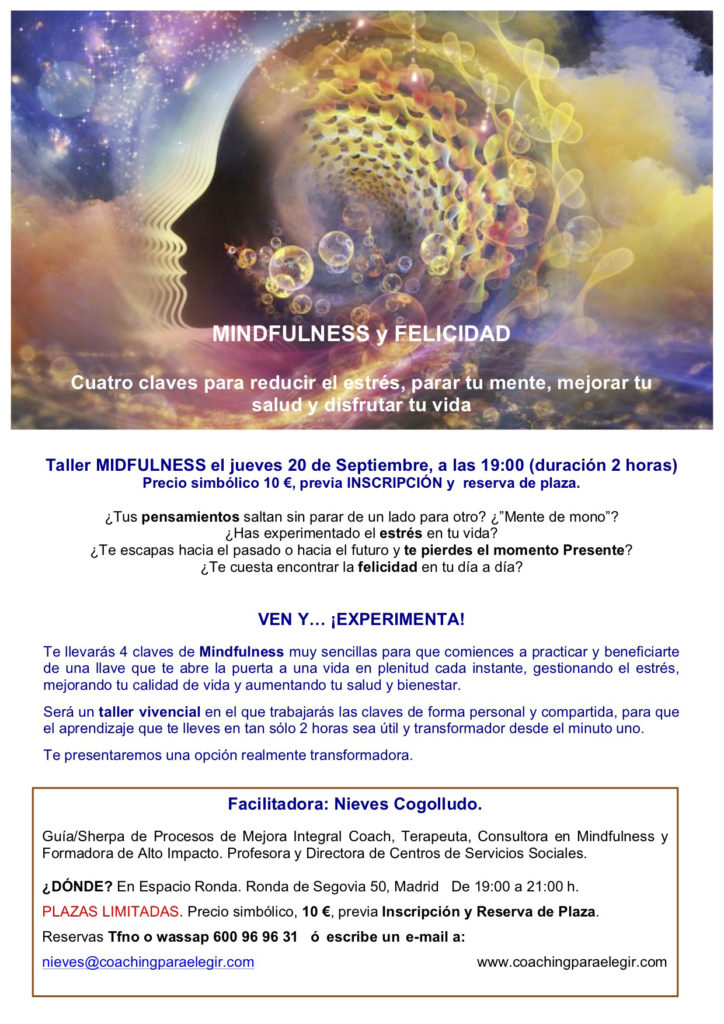 "Taller ""Mindfulness y Felicidad"""