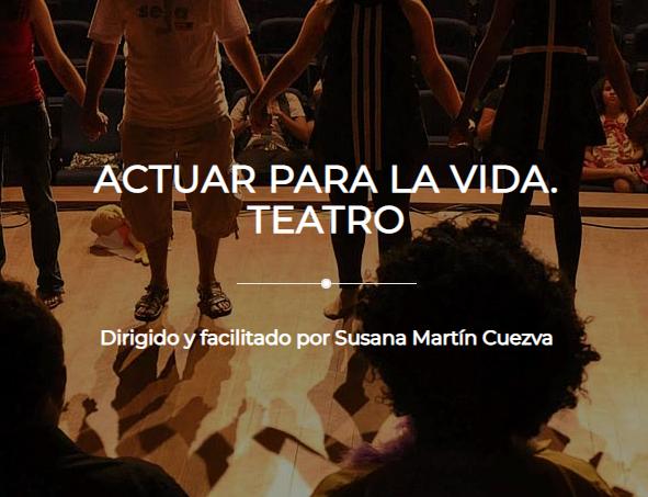 """Presentación del taller """"Actuar para la vida"""" Teatro"""