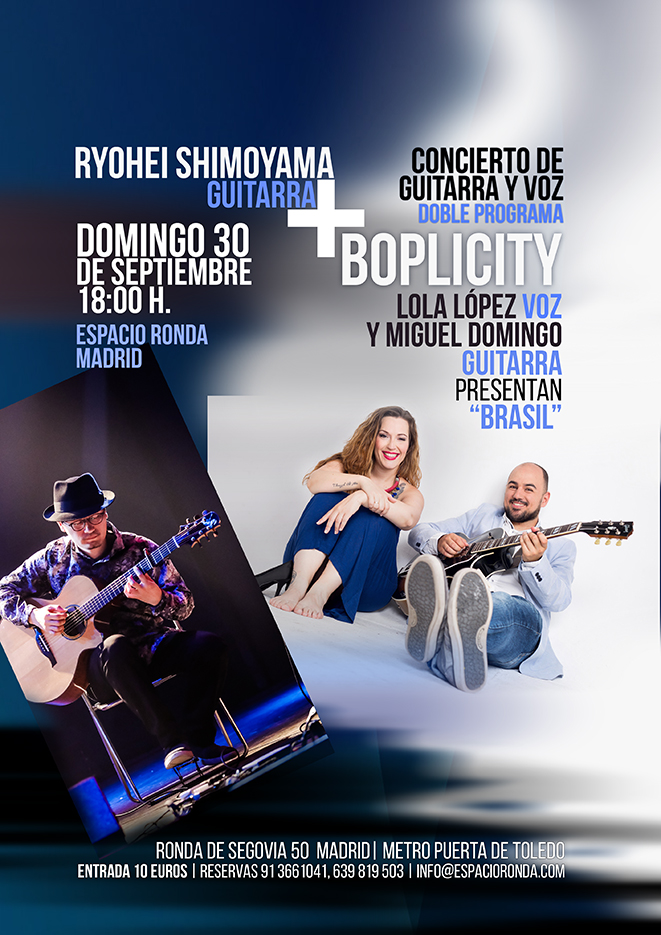 Ryohei Shimoyama + Boplicity: Programa Doble de Guitarra y Voz