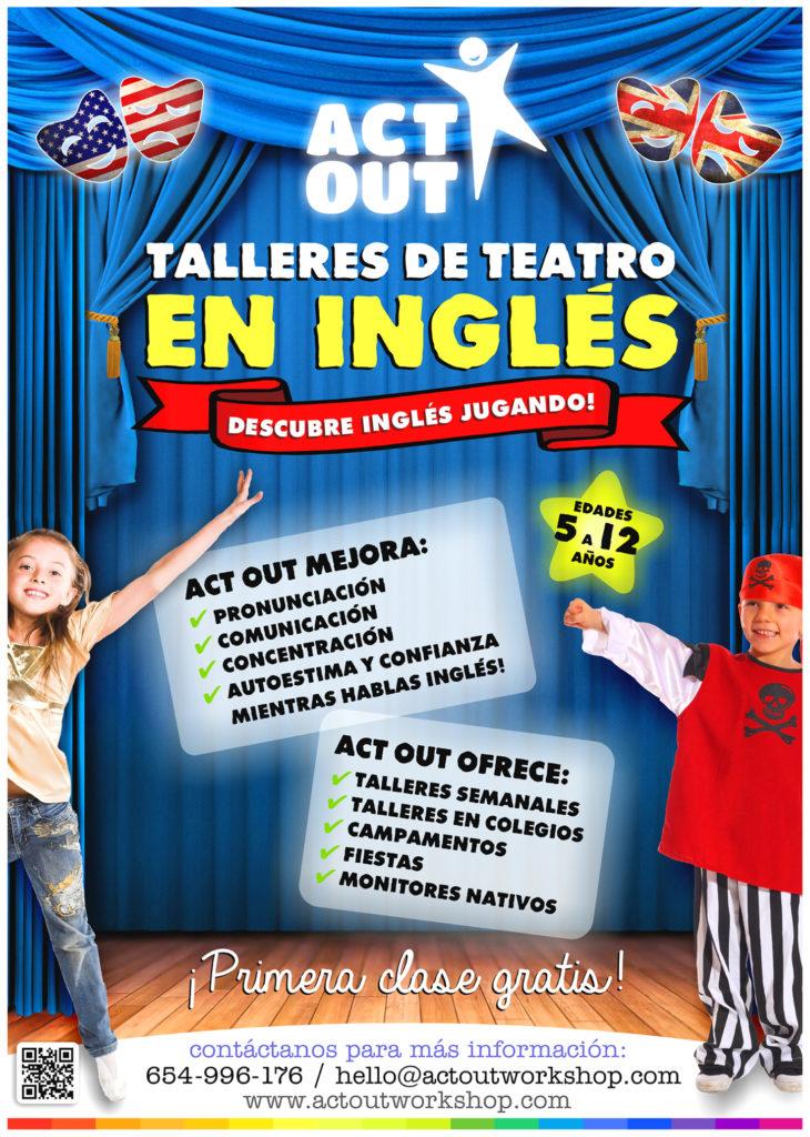 """Clases abierta de prueba """"Talleres de teatro en Inglés"""" Edades 5 a 12 años"""