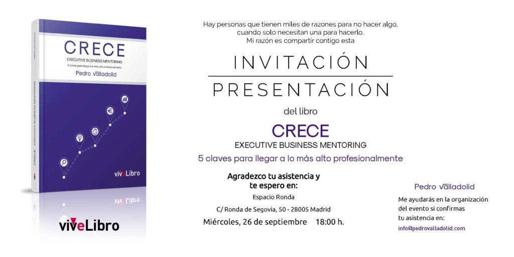 """Presentación del libro """"Crece - Executive Business Mentoring"""""""