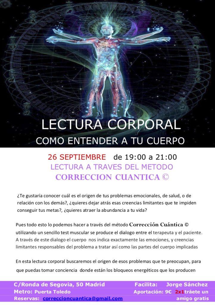 """Lectura Corporal """"Cómo entender tu cuerpo"""""""