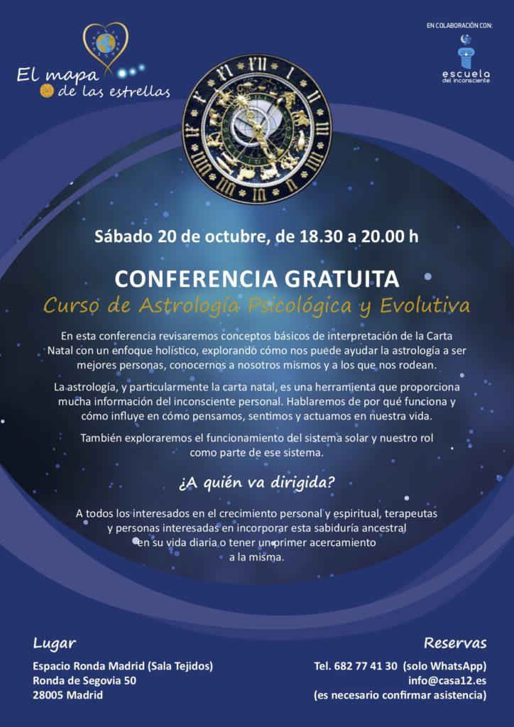 """Conferencia gratuita """"Curso de astrología psicológica y evolutiva"""""""