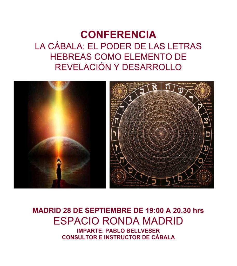 """Conferencia """"La Cábala - El poder de las letras hebreas como elemento de revelación y desarrollo"""""""