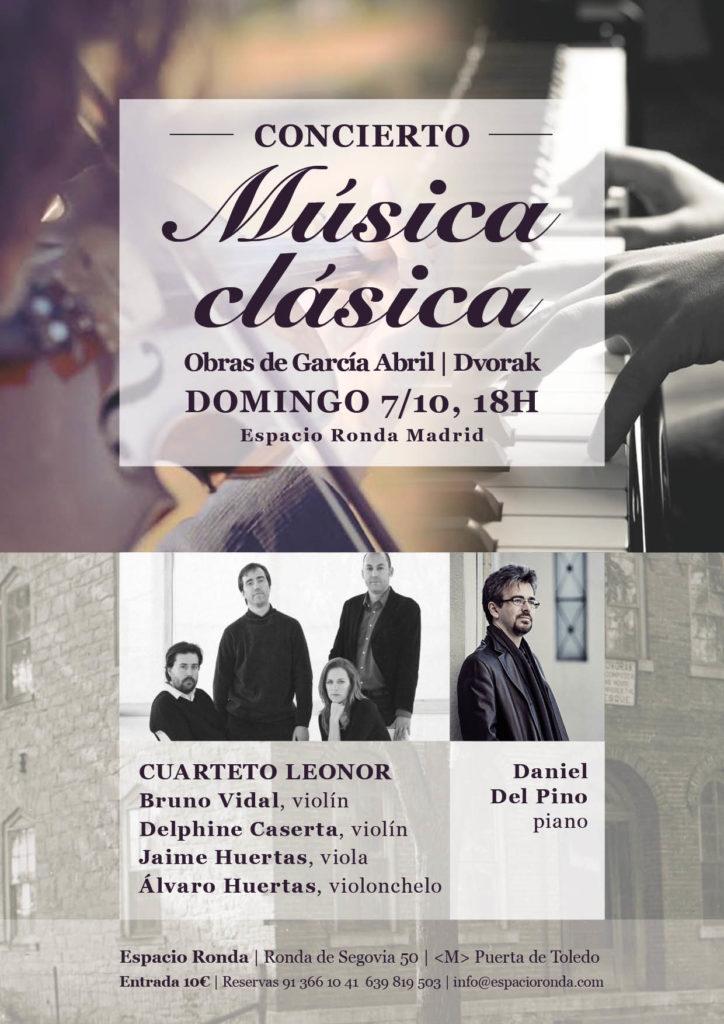 Concierto música clásica - Daniel del Pino y el Cuarteto Leonor