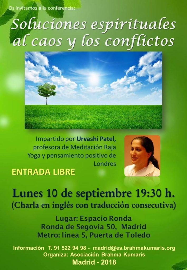 """Conferencia """"Soluciones espirituales al caos y los conflictos"""""""