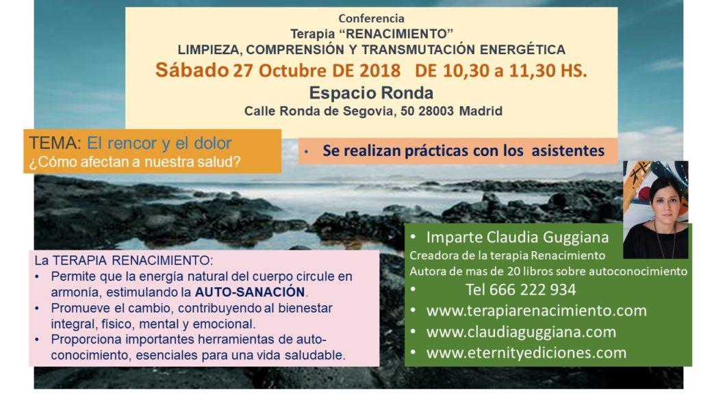 """Conferencia Terapia """"Renacimiento"""" Limpieza, comprensión y transmutación energética"""