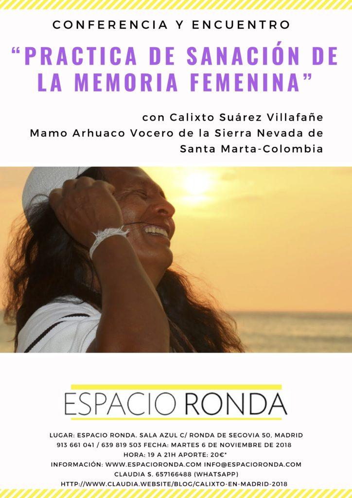 """Conferencia y encuentro """"Práctica de sanación de la memoria femenina"""""""