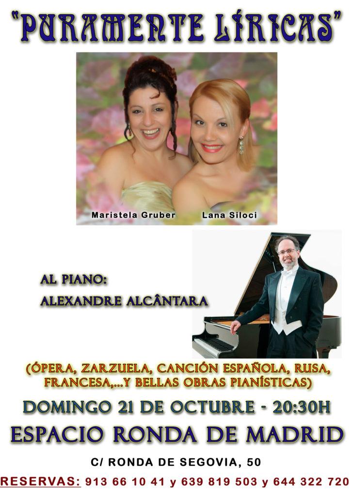 Puramente Líricas. Ópera, zarzuela, canción española, rusa, francesa, y bellas obras pianísticas