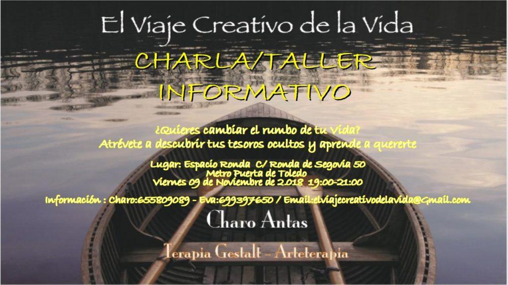 """""""El Viaje Creativo de la Vida"""" Charla/taller informativo"""