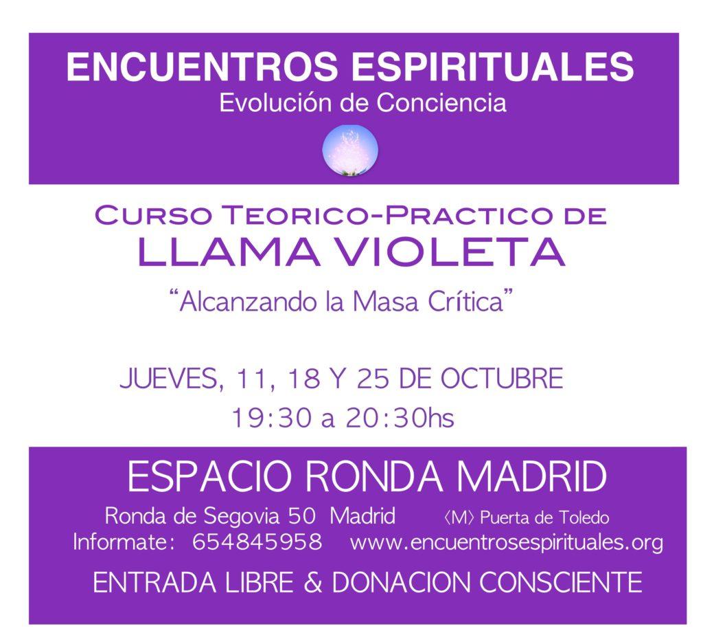 """Curso teórico-práctico de Llama Violeta """"Alcanzando la Masa Crítica"""""""