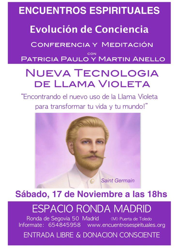 """Conferencia en Madrid """"Tecnología de la Llama Violeta"""""""