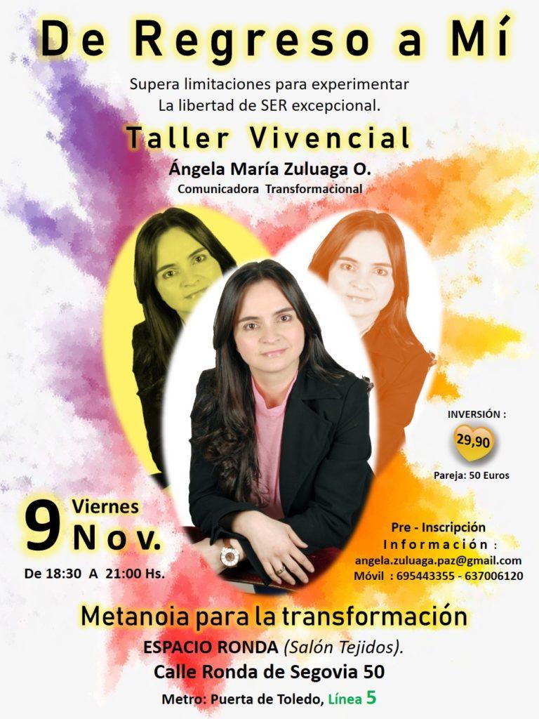 "Taller Vivencial ""De Regreso a Mí"""
