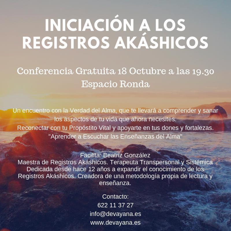 """Conferencia Gratuita """"Iniciación a los Registros Akáshicos"""""""