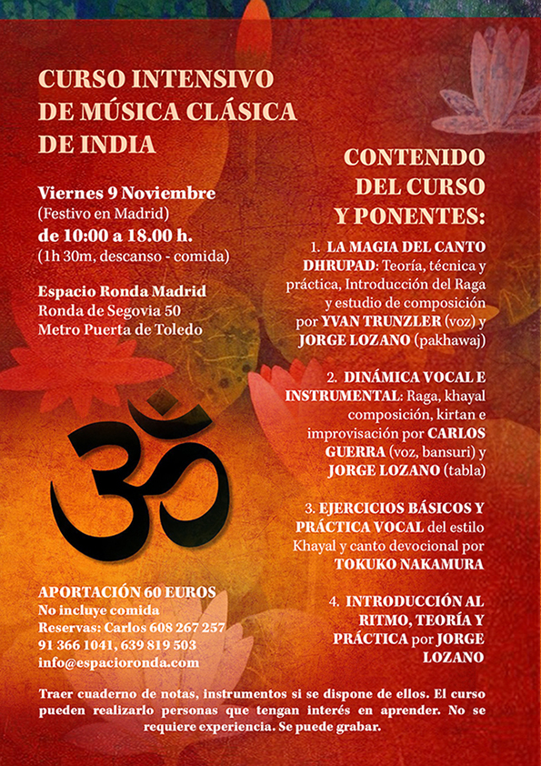 Curso Intensivo de Música Clásica de India
