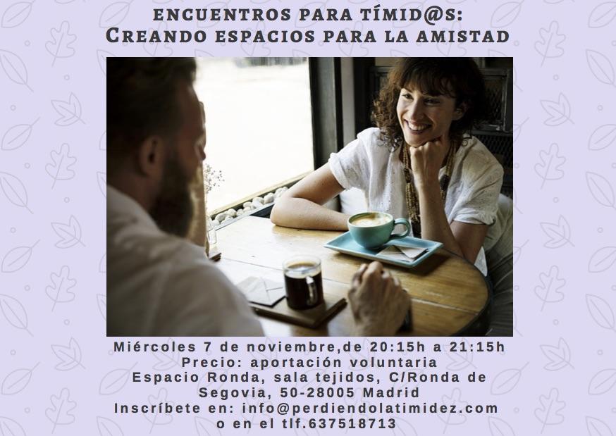 """Encuentro para tímid@s """"Creando espacios para la Amistad"""""""