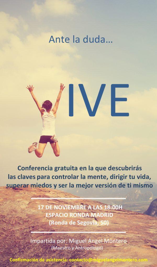"""Conferencia gratuita """"Ante la duda... VIVE"""""""
