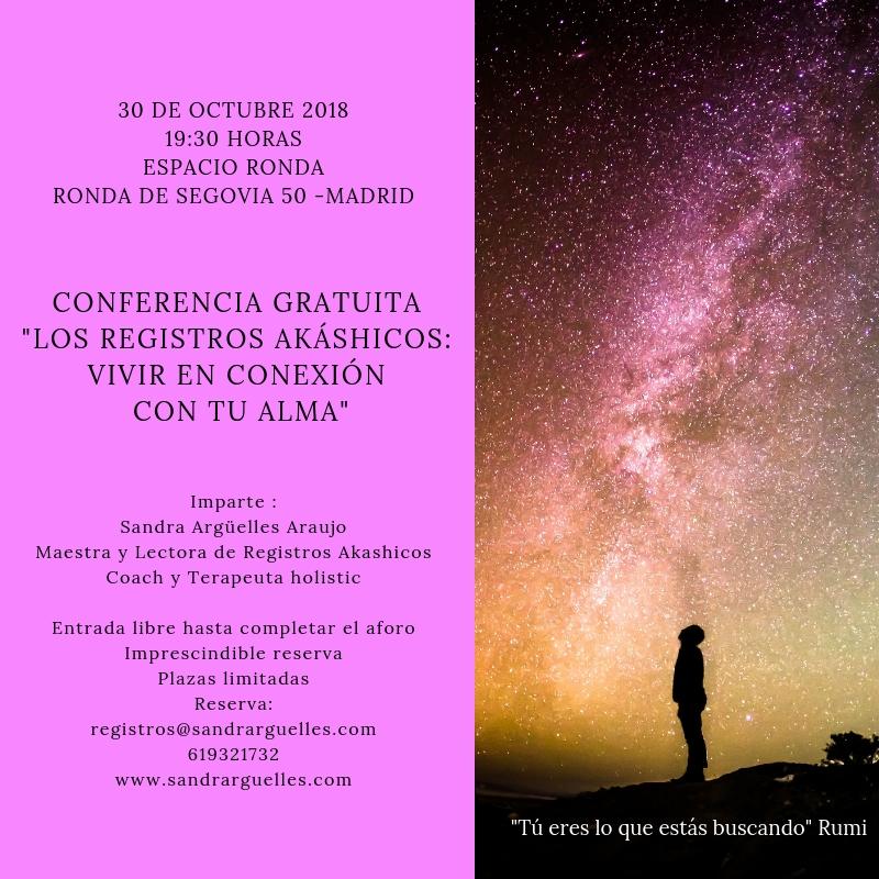 """Conferencia gratuita """"Los registros akáshicos - vivir en conexión con tu alma"""""""