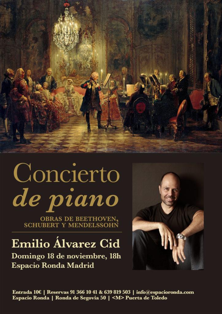 Concierto de piano con Emilio Álvarez Cid