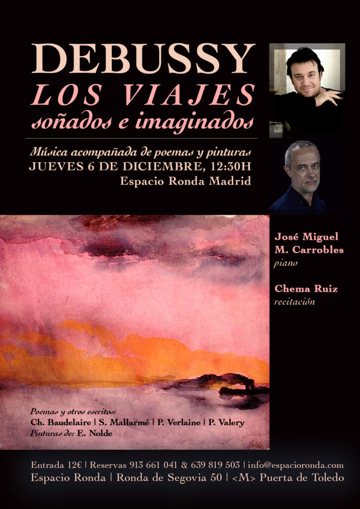 """""""Los viajes soñados e imaginados"""" Programa Debussy"""