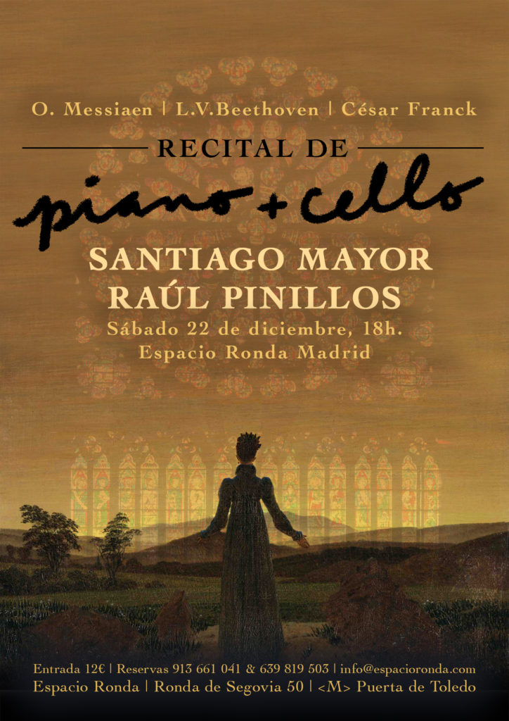 Recital de piano y cello - Obras compuestas en tres siglos distintos