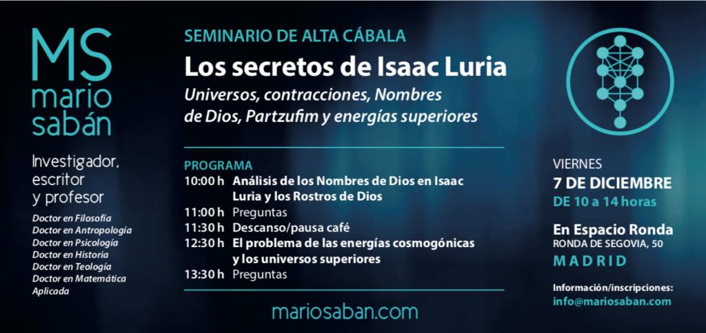 LOS SECRETOS DE ISAAC LURIA: Universos, contracciones, Nombres de Dios, Partzufim y energías superiores