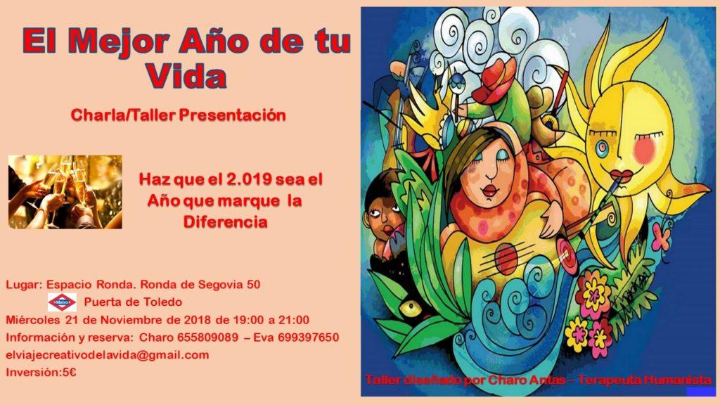 """Charla/taller presentación """"El Mejor Año de tu Vida"""""""