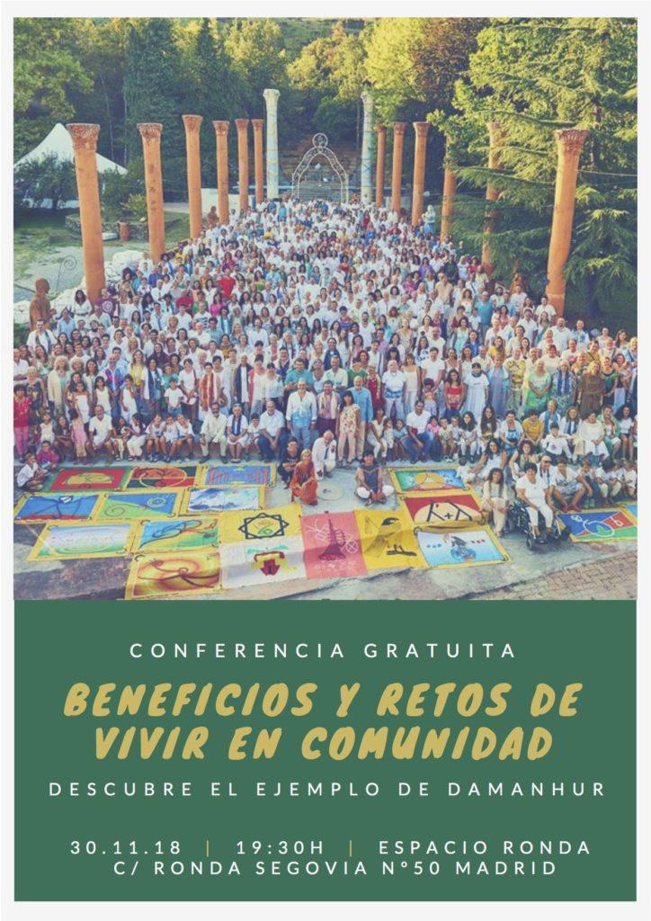 """Conferencia gratuita """"Beneficios y retos de vivir en comunidad"""""""