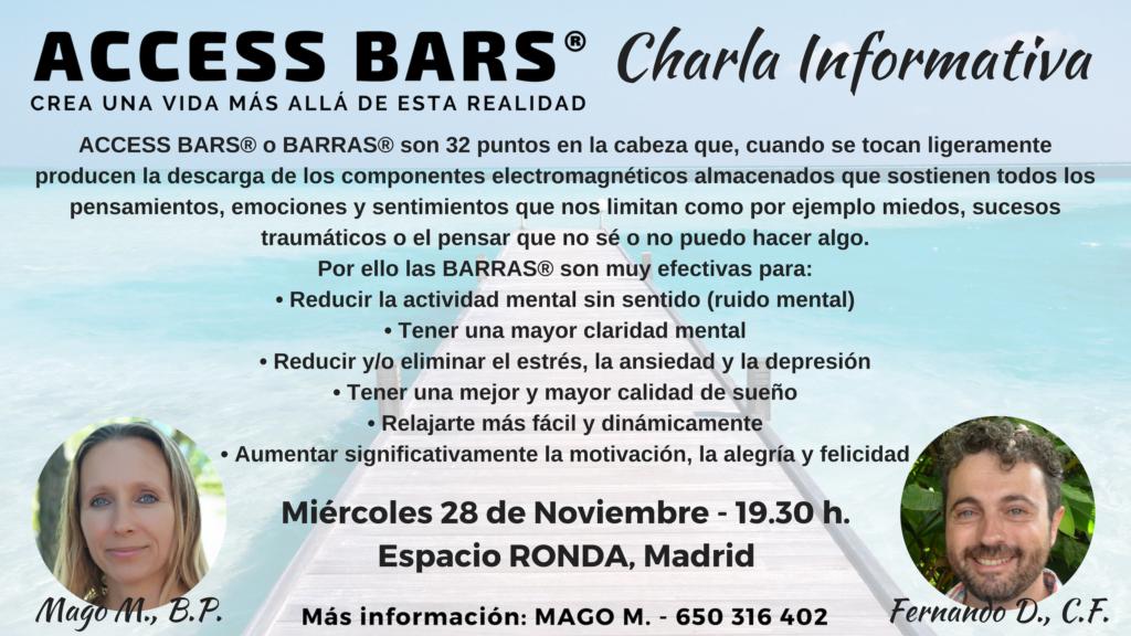 """""""Access Bars® Crea una vida más allá de esta realidad"""" Charla informativa"""