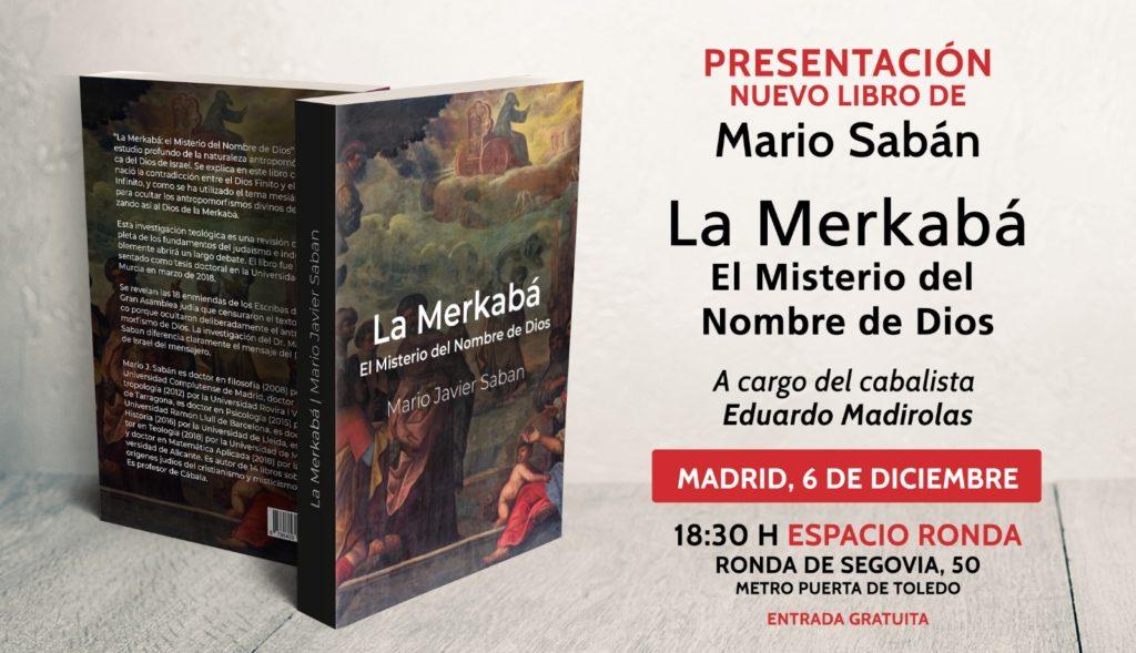 """Presentación de Nuevo Libro de Mario Sabán """"La Merkabá, el misterio del nombre de Dios"""""""