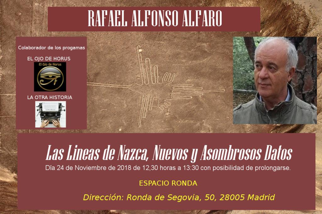 """Rafael Alfonso Alfaro """"Las lines de Nazca - Nuevos y asombrosos datos"""""""