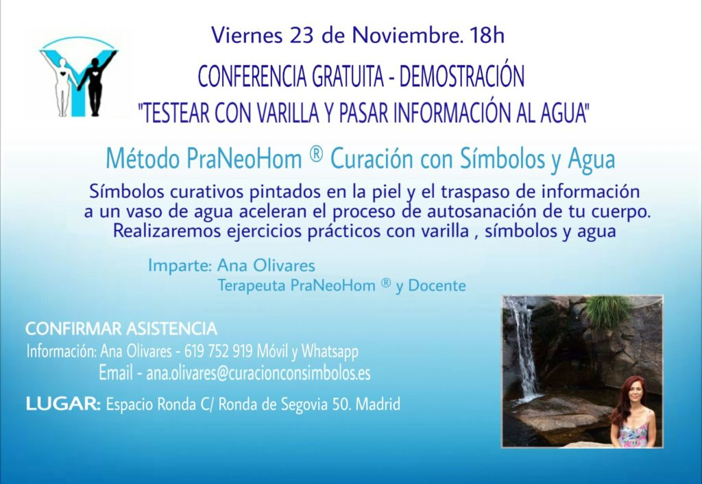 """Conferencia gratuita - Demostración """"Testear con varilla y pasar información al agua"""""""