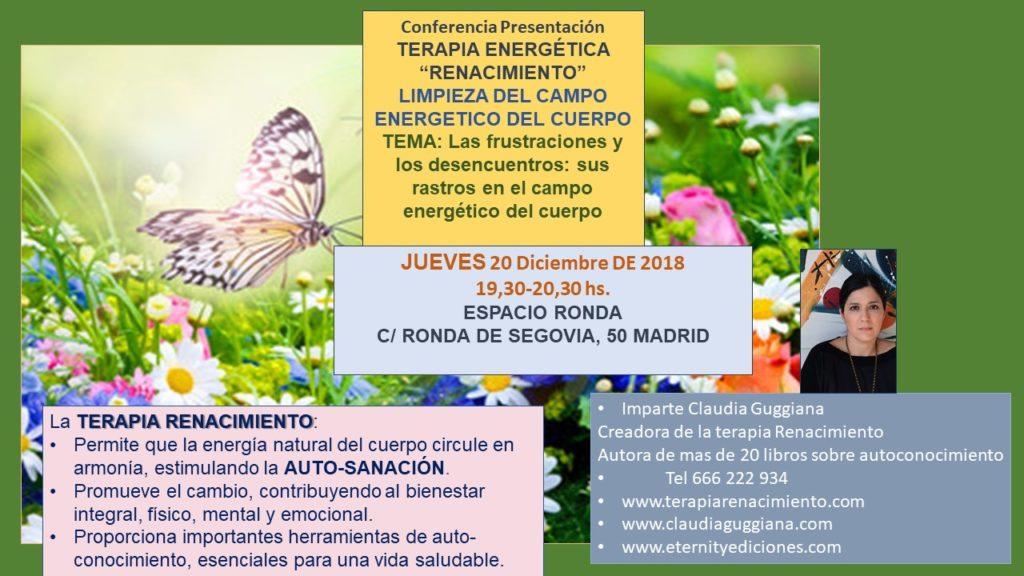 """Conferencia presentación - Terapia energética """"Renacimiento"""""""